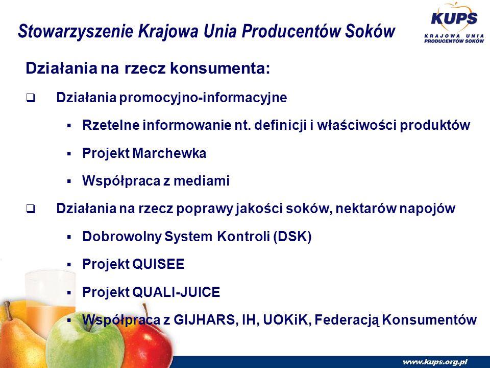 Działania na rzecz konsumenta:  Działania promocyjno-informacyjne  Rzetelne informowanie nt.