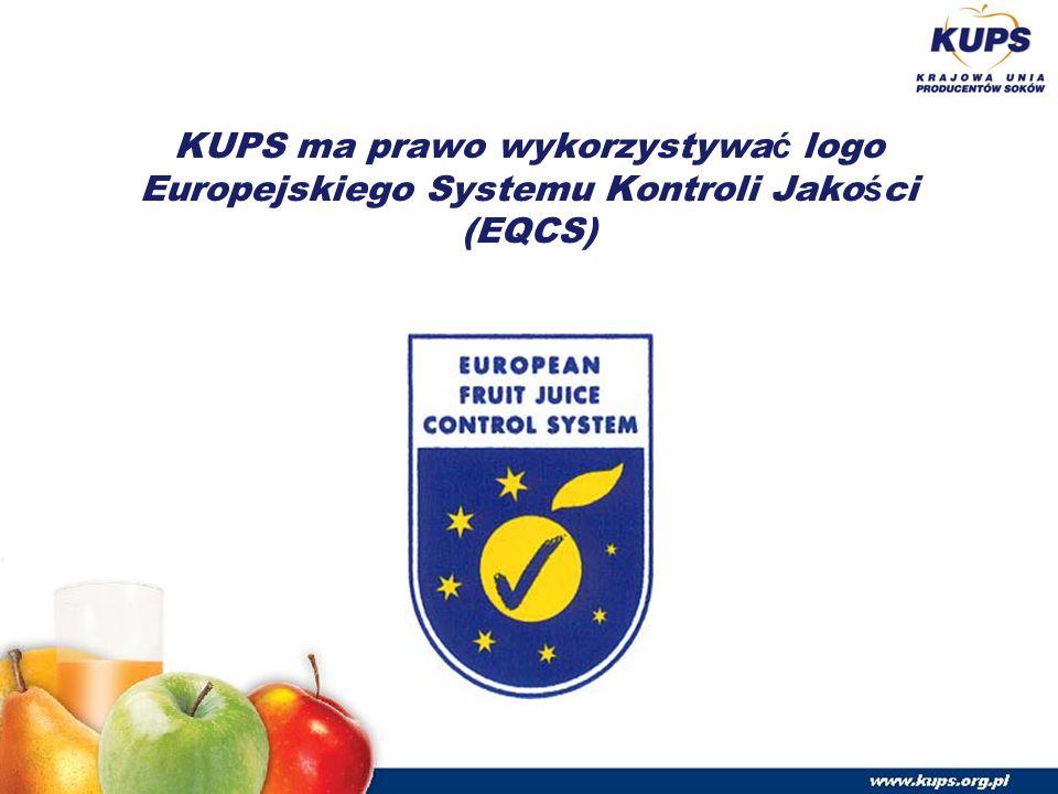 KUPS ma prawo wykorzystywa ć logo Europejskiego Systemu Kontroli Jako ś ci (EQCS)