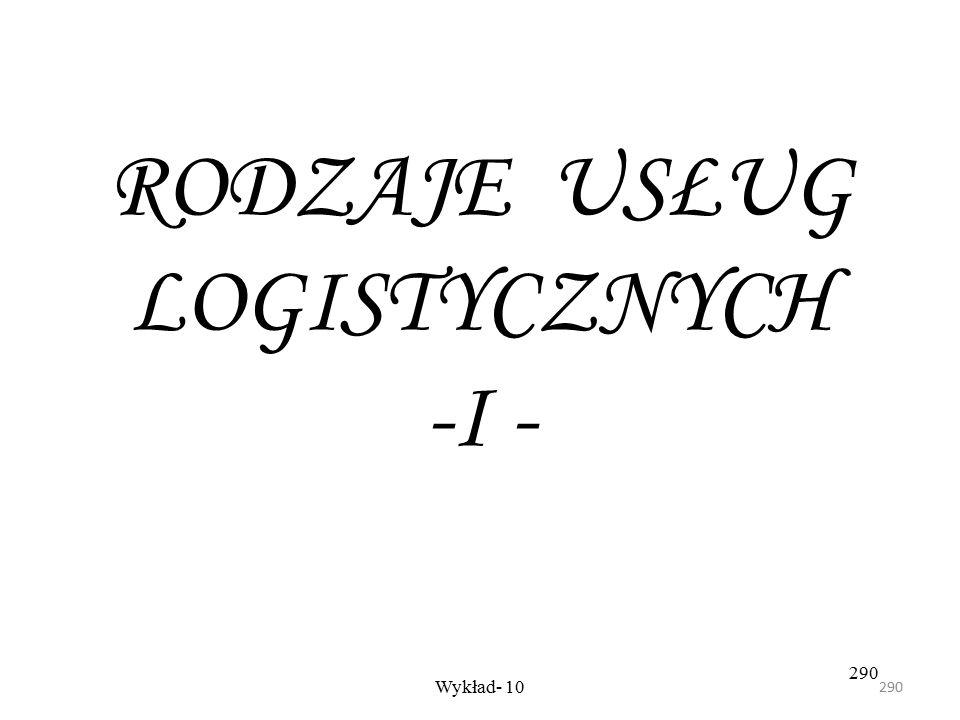 289 Wykład -8289 Projektując logistyczny łańcuch dostaw trzeba wziąć pod uwagę następujące czynniki: - lokalizacja dostawców i odbiorców, - wielkość p