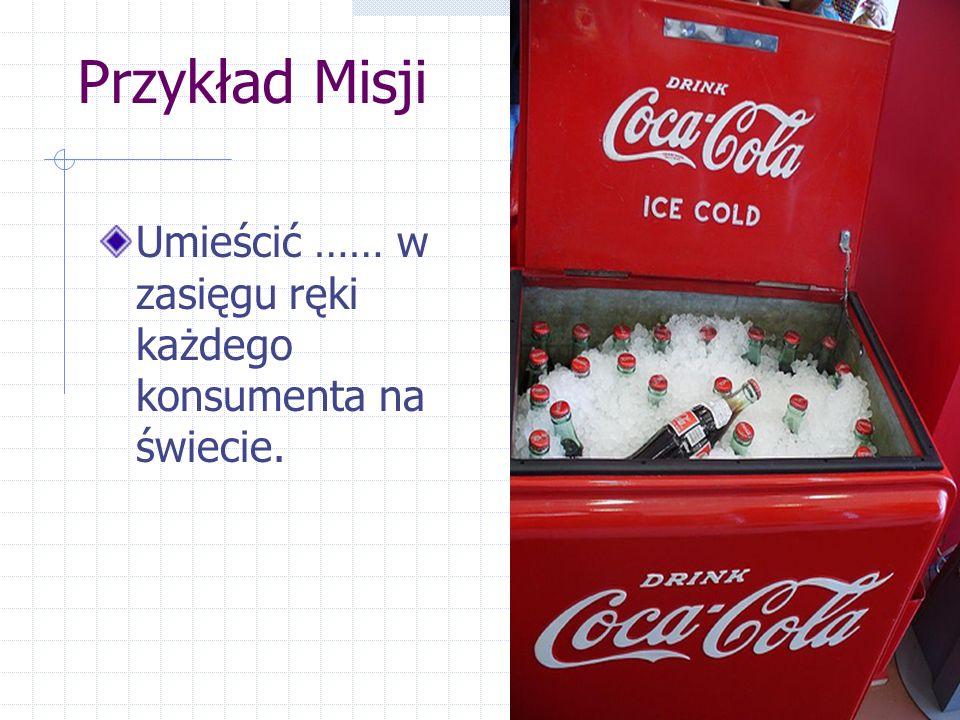 Przykład Misji Umieścić …… w zasięgu ręki każdego konsumenta na świecie.