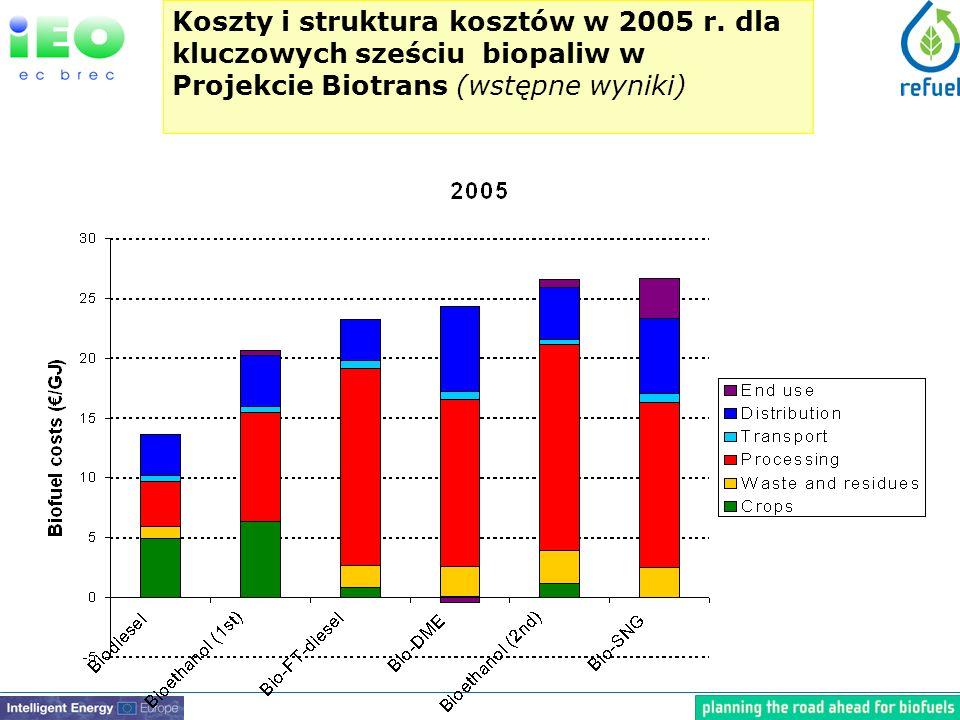 Koszty i struktura kosztów w 2005 r.