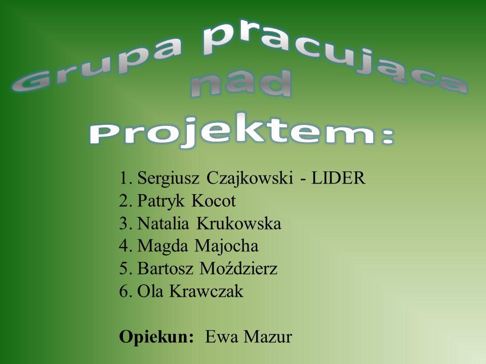 1.Sergiusz Czajkowski - LIDER 2.Patryk Kocot 3.Natalia Krukowska 4.Magda Majocha 5.Bartosz Moździerz 6.Ola Krawczak Opiekun: Ewa Mazur