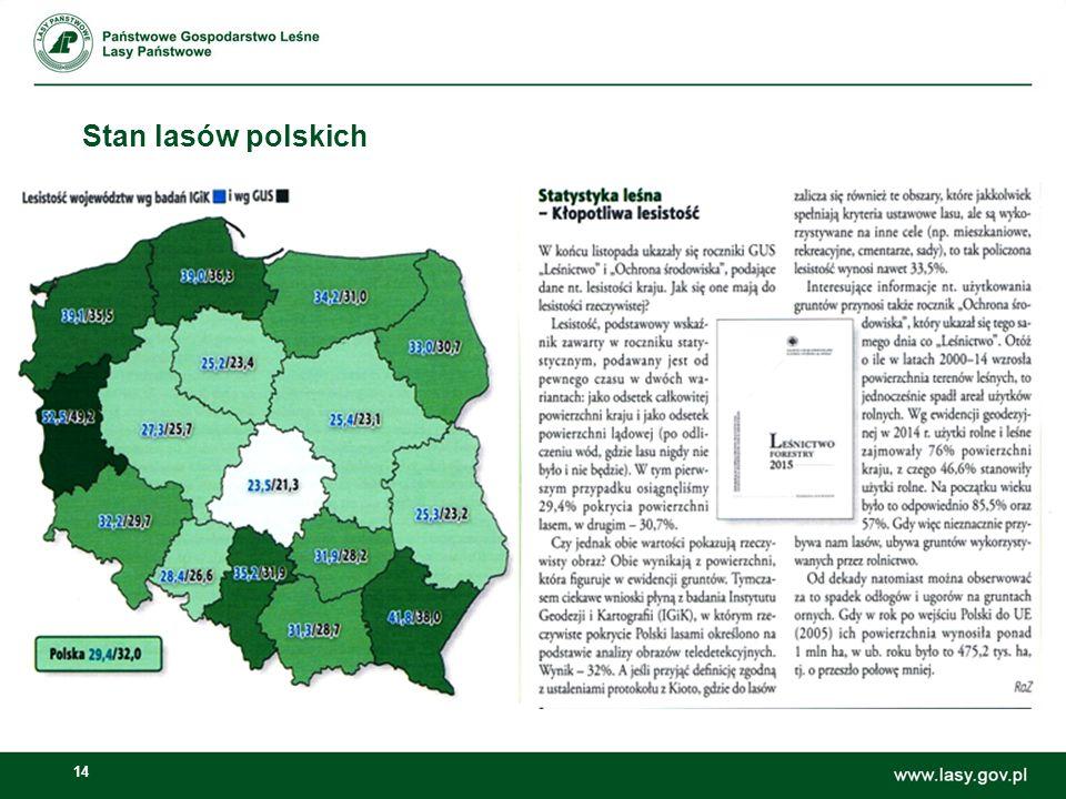 14 Stan lasów polskich