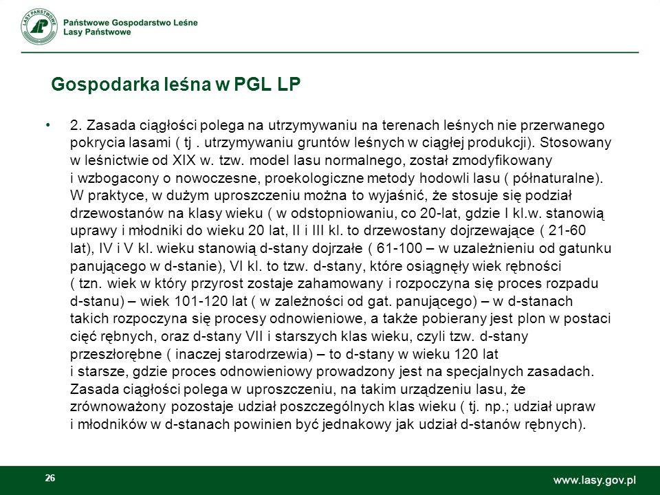 26 Gospodarka leśna w PGL LP 2.