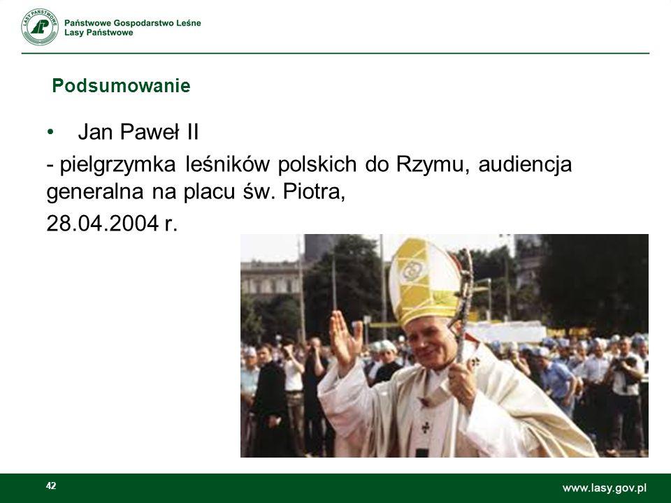 42 Podsumowanie Jan Paweł II - pielgrzymka leśników polskich do Rzymu, audiencja generalna na placu św.