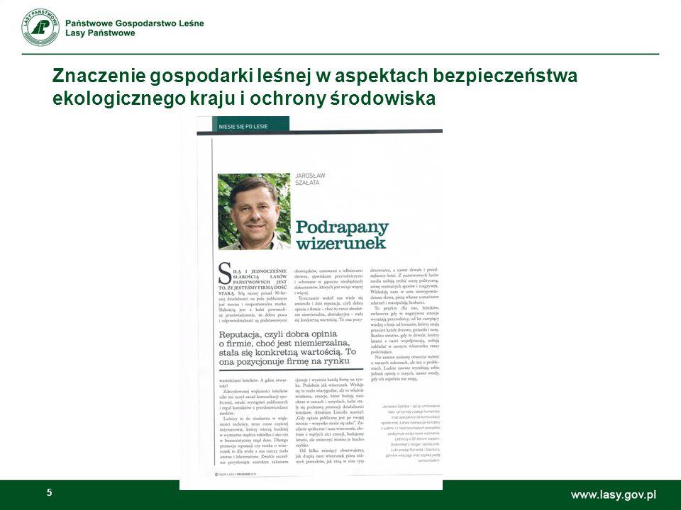 5 Znaczenie gospodarki leśnej w aspektach bezpieczeństwa ekologicznego kraju i ochrony środowiska