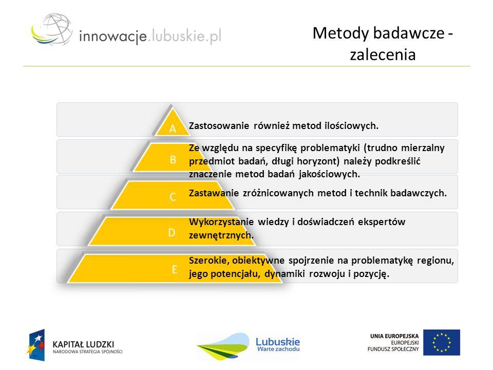 Zastawanie zróżnicowanych metod i technik badawczych. Wykorzystanie wiedzy i doświadczeń ekspertów zewnętrznych. Szerokie, obiektywne spojrzenie na pr