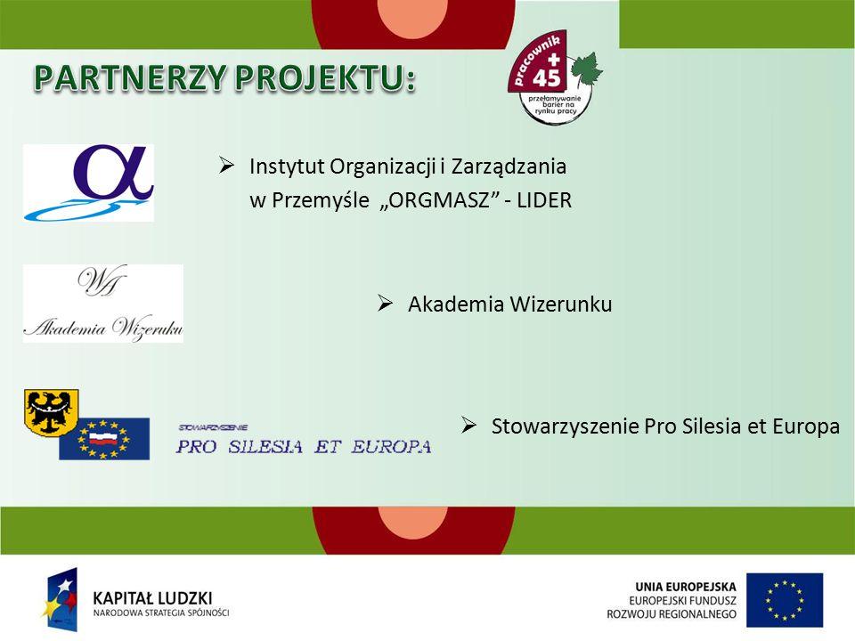 """ Instytut Organizacji i Zarządzania w Przemyśle """"ORGMASZ - LIDER  Akademia Wizerunku  Stowarzyszenie Pro Silesia et Europa"""