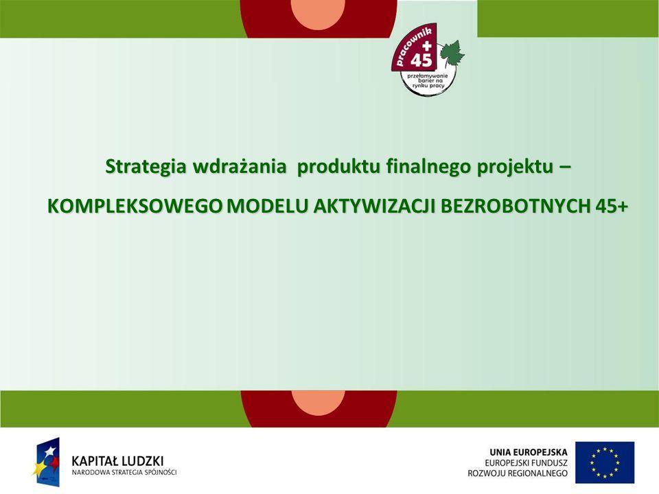 Strategia wdrażania produktu finalnego projektu – KOMPLEKSOWEGO MODELU AKTYWIZACJI BEZROBOTNYCH 45+