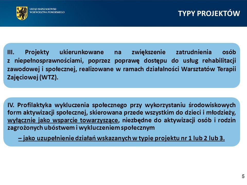 TYPY PROJEKTÓW 5 III.
