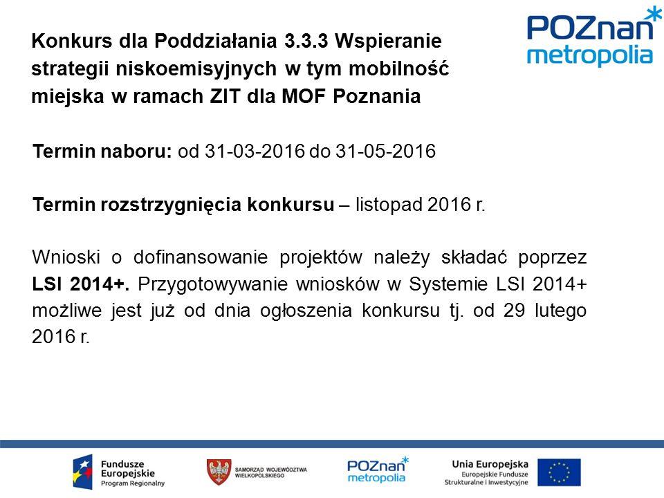 Alokacja na konkurs: 50 mln PLN.
