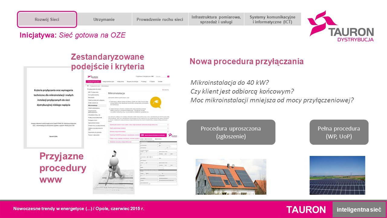 Nowoczesne trendy w energetyce (...) / Opole, czerwiec 2015 r. Przyjazne procedury www Zestandaryzowane podejście i kryteria Mikroinstalacja do 40 kW?