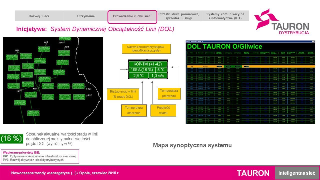TAURON inteligentna sieć Rozwój SieciUtrzymanieProwadzenie ruchu sieci Infrastruktura pomiarowa, sprzedaż i usługi Systemy komunikacyjne i informatycz