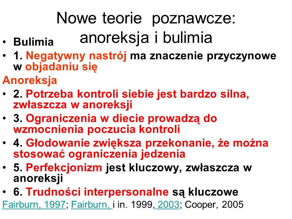 Nowe teorie poznawcze: anoreksja i bulimia Bulimia 1.