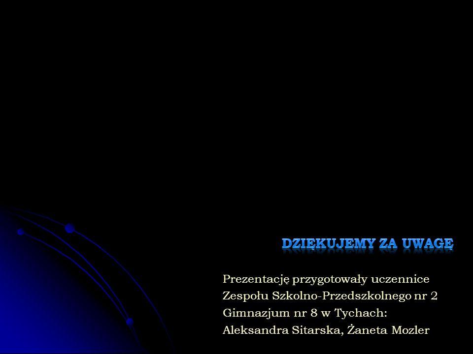 Prezentację przygotowały uczennice Zespołu Szkolno-Przedszkolnego nr 2 Gimnazjum nr 8 w Tychach: Aleksandra Sitarska, Żaneta Mozler
