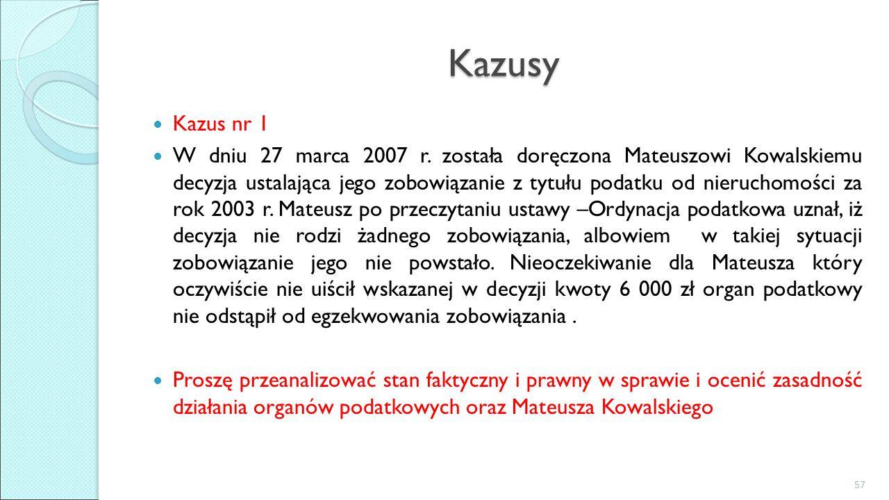 Kazusy Kazus nr 1 W dniu 27 marca 2007 r.