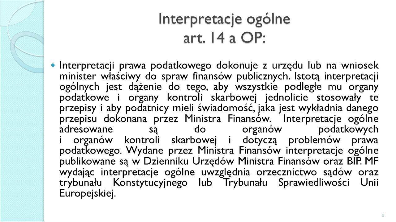 Interpretacje ogólne art.