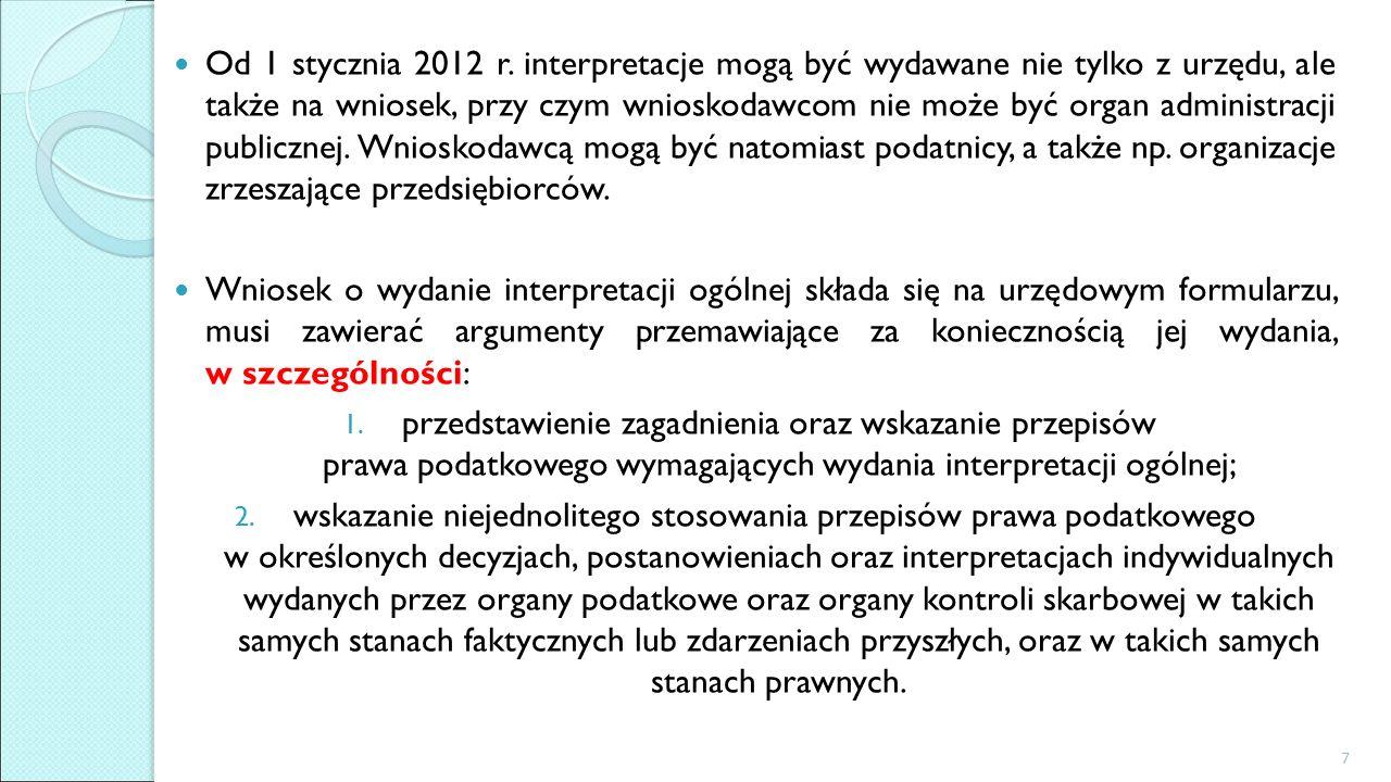 Od 1 stycznia 2012 r.
