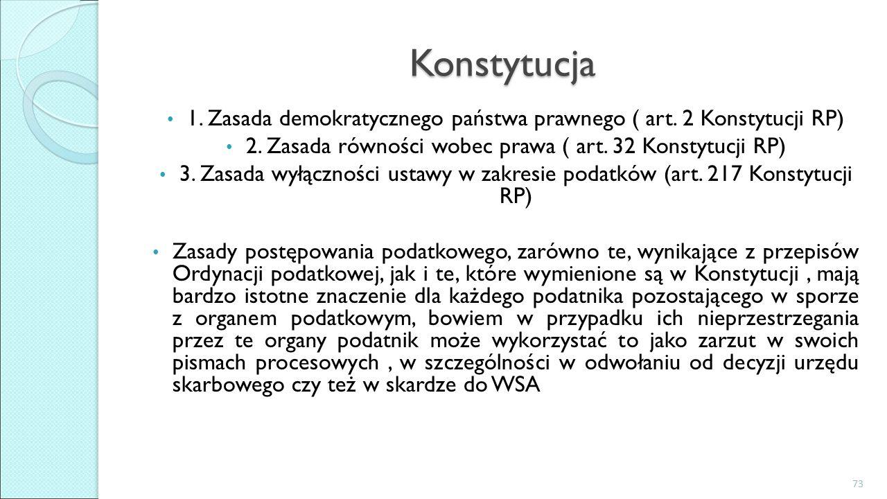Konstytucja 1. Zasada demokratycznego państwa prawnego ( art.