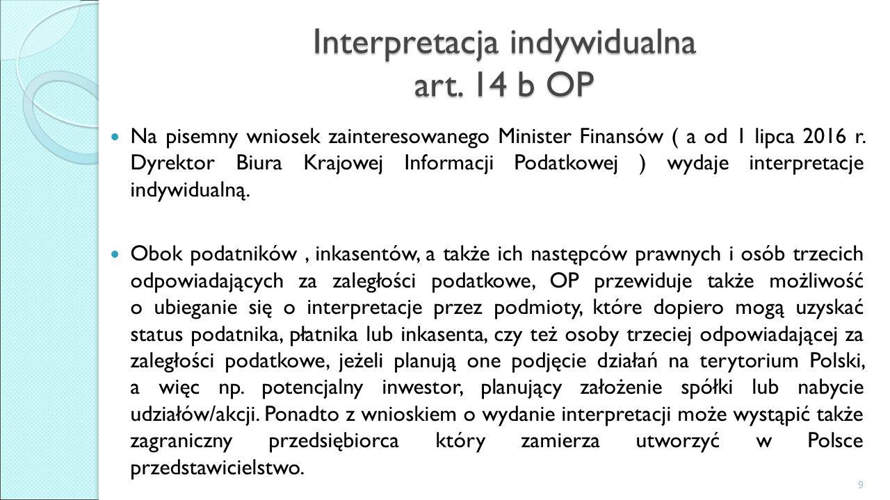 Interpretacja indywidualna art.
