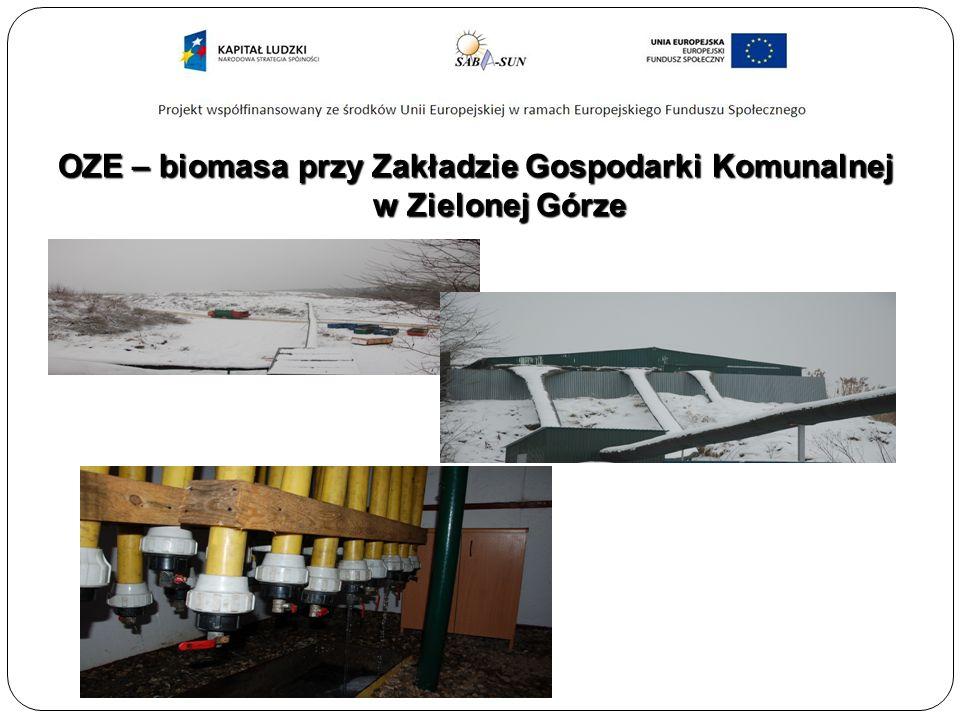 OZE – biomasa przy Zakładzie Gospodarki Komunalnej w Zielonej Górze