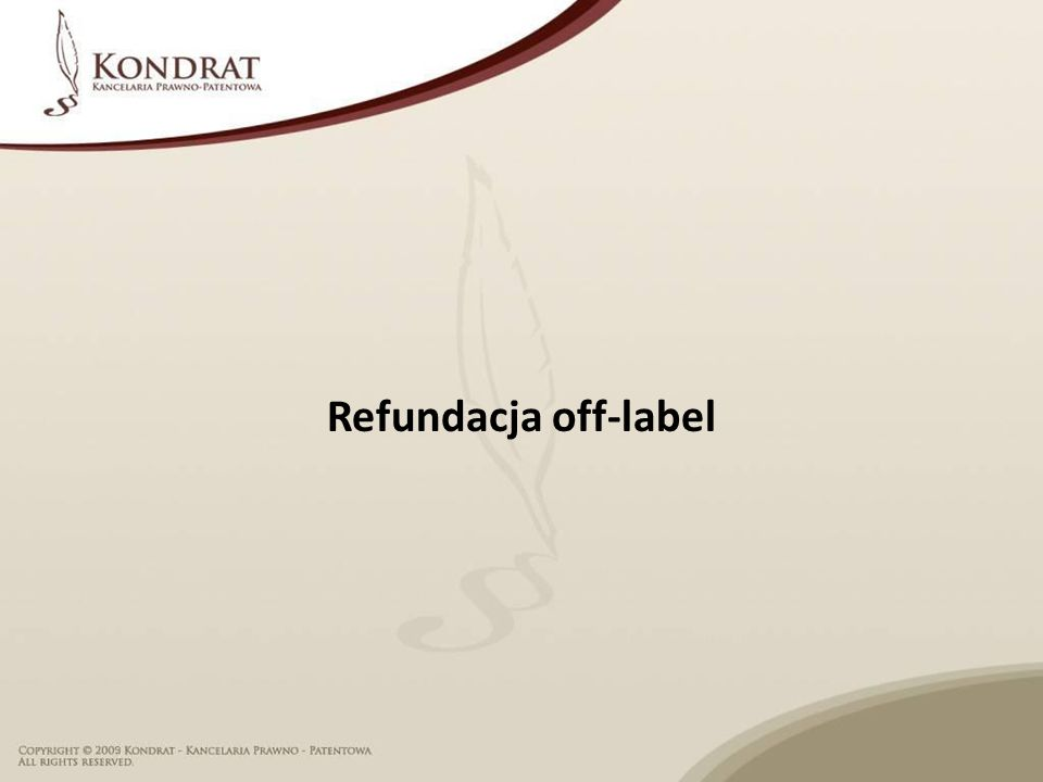 Refundacja off-label
