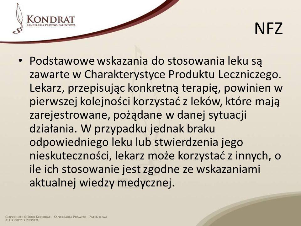 NFZ Podstawowe wskazania do stosowania leku są zawarte w Charakterystyce Produktu Leczniczego.