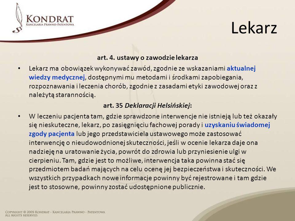 Lekarz art. 4.