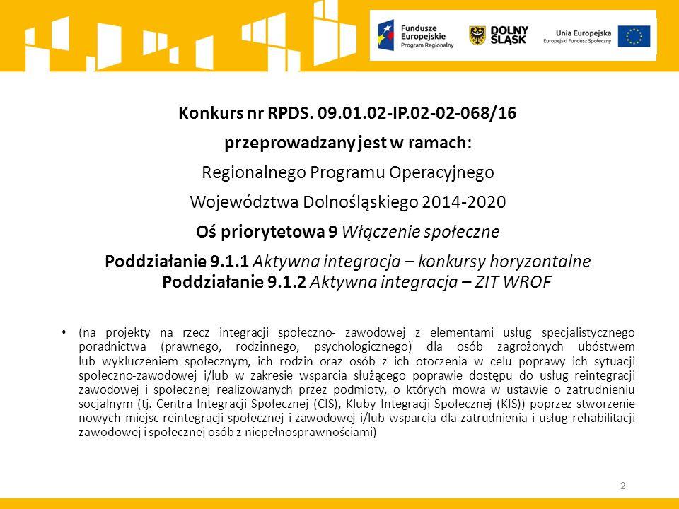 Kryterium zgodności z SzOOP ‒Czy projekt jest zgodny z zapisami SzOOP RPO WD 2014-2020 Kryterium jest weryfikowane na podstawie zapisów wniosku o dofinansowanie.