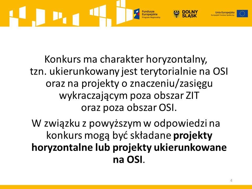 ROZSTRZYGNIĘCIE KONKURSU Po rozstrzygnięciu konkursu IOK zamieszcza na stronie internetowej: www.rpo.dwup.pl a także na stronach internetowych http://www.wroclaw.pl/zit-wrof http://bip.um.wroc.pl/contents/content/309/5852 oraz na portalu (nie później niż 7 dni od rozstrzygnięcia konkursu) listę projektów, które uzyskały wymaganą liczbę punktów, z wyróżnieniem projektów wybranych do dofinansowania, tj.