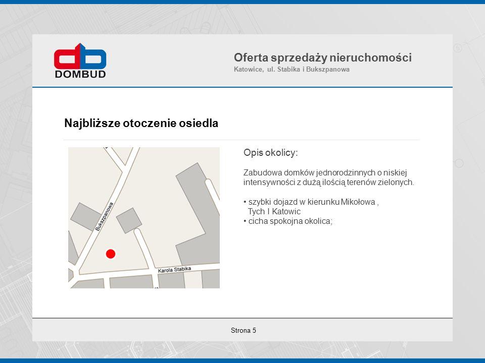Strona 6 Wizualizacje Osiedla Oferta sprzedaży nieruchomości Katowice, ul. Stabika i Bukszpanowa