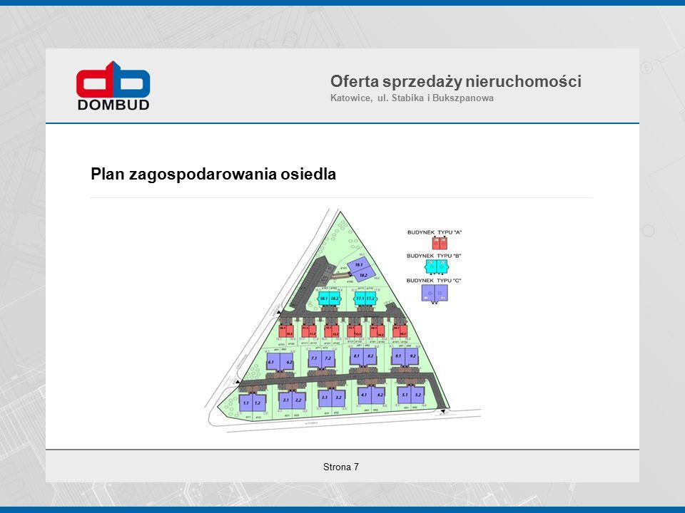 Strona 7 Plan zagospodarowania osiedla Oferta sprzedaży nieruchomości Katowice, ul.