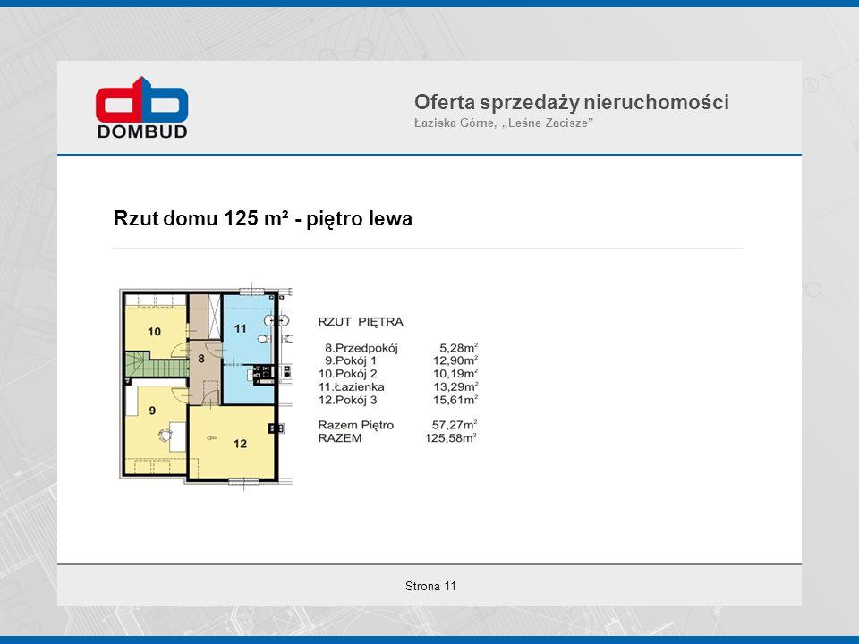 """Strona 11 Rzut domu 125 m² - piętro lewa Oferta sprzedaży nieruchomości Łaziska Górne, """"Leśne Zacisze"""