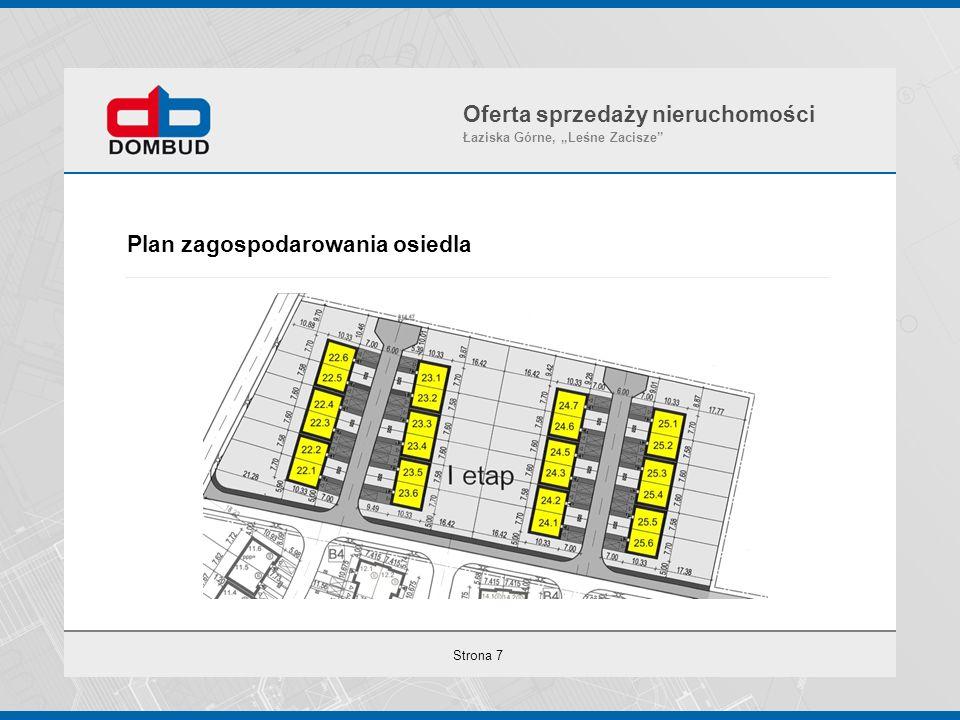 """Strona 7 Plan zagospodarowania osiedla Oferta sprzedaży nieruchomości Łaziska Górne, """"Leśne Zacisze"""