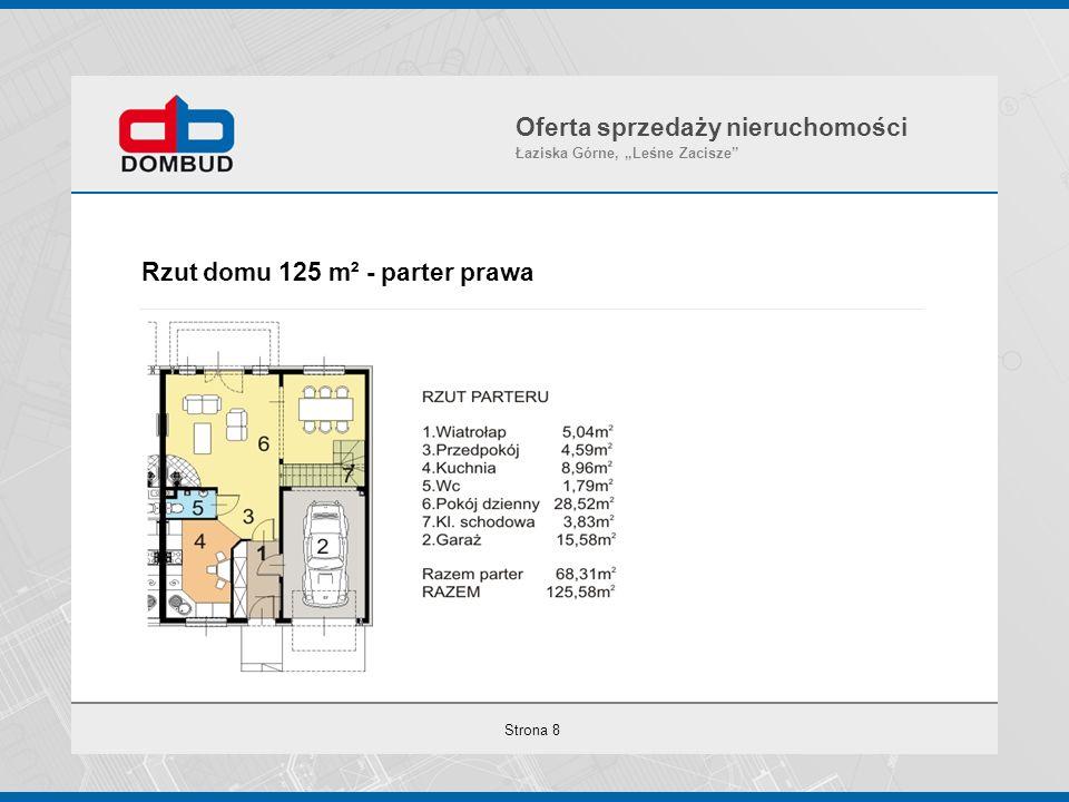 """Strona 8 Rzut domu 125 m² - parter prawa Oferta sprzedaży nieruchomości Łaziska Górne, """"Leśne Zacisze"""