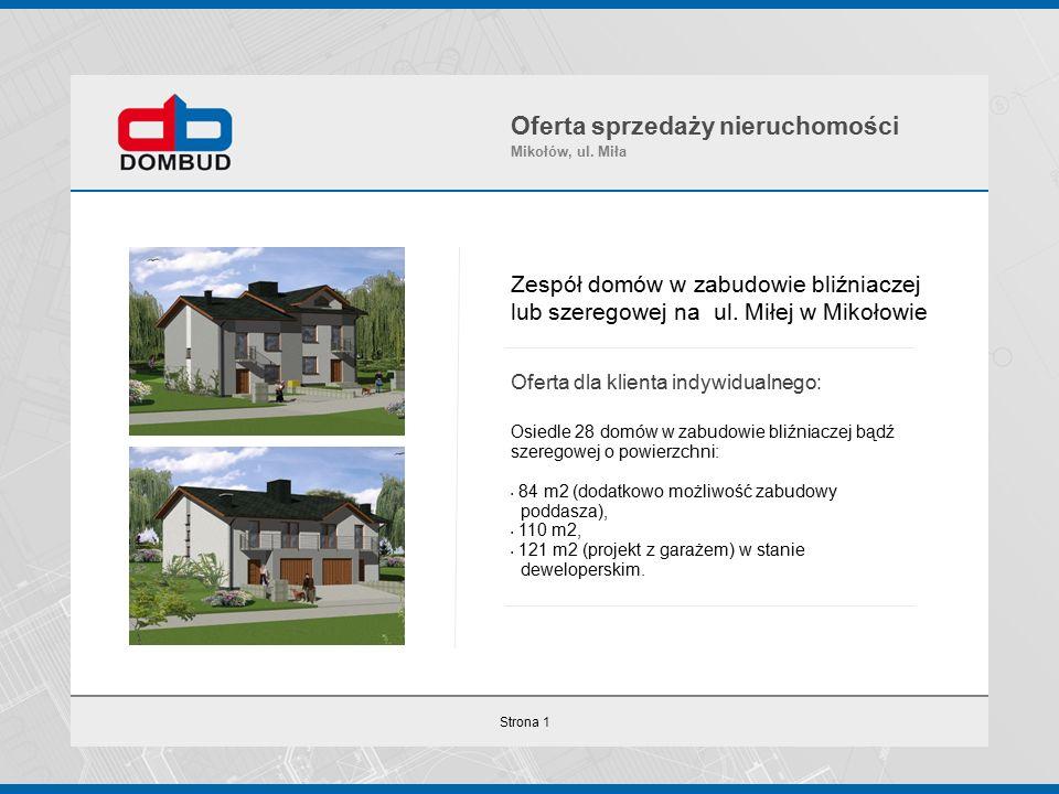 Strona 1 Zespół domów w zabudowie bliźniaczej lub szeregowej na ul.
