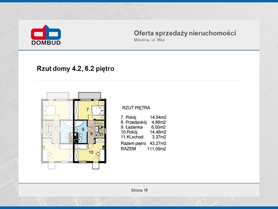 Strona 18 Rzut domy 4.2, 6.2 piętro Oferta sprzedaży nieruchomości Mikołów, ul. Miła