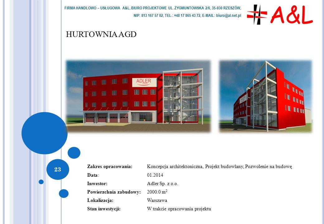 HURTOWNIA AGD FIRMA HANDLOWO – USŁUGOWA A&L, BIURO PROJEKTOWE UL.