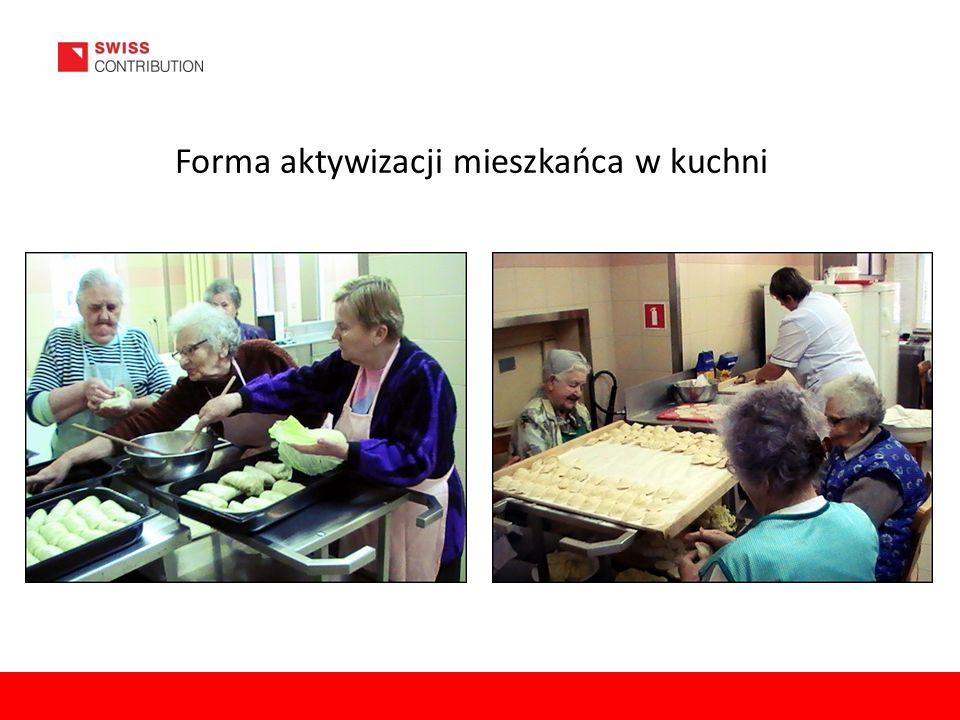 Forma aktywizacji mieszkańca w kuchni