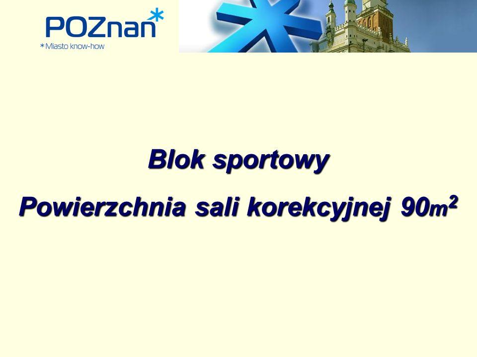 Blok sportowy Powierzchnia sali korekcyjnej 90 m 2