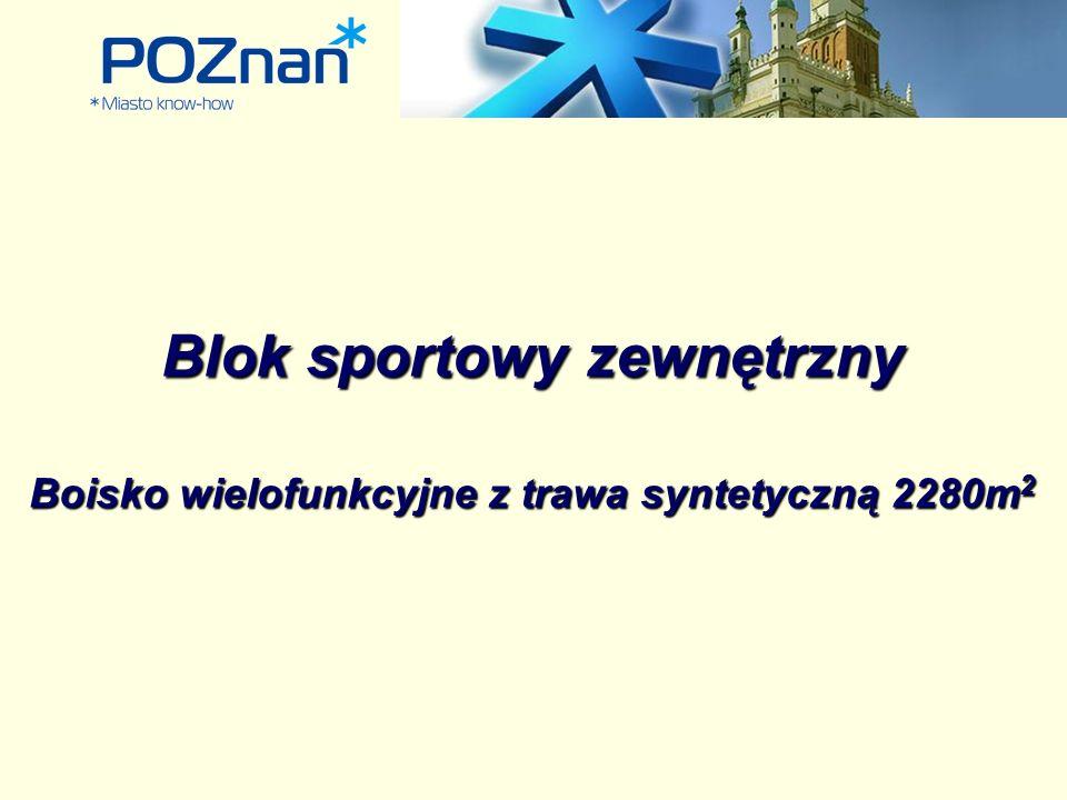 Blok sportowy zewnętrzny Boisko wielofunkcyjne z trawa syntetyczną 2280m 2