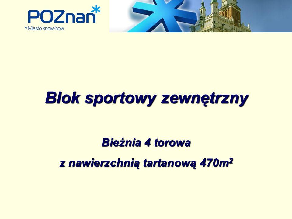 Blok sportowy zewnętrzny Bieżnia 4 torowa z nawierzchnią tartanową 470m 2