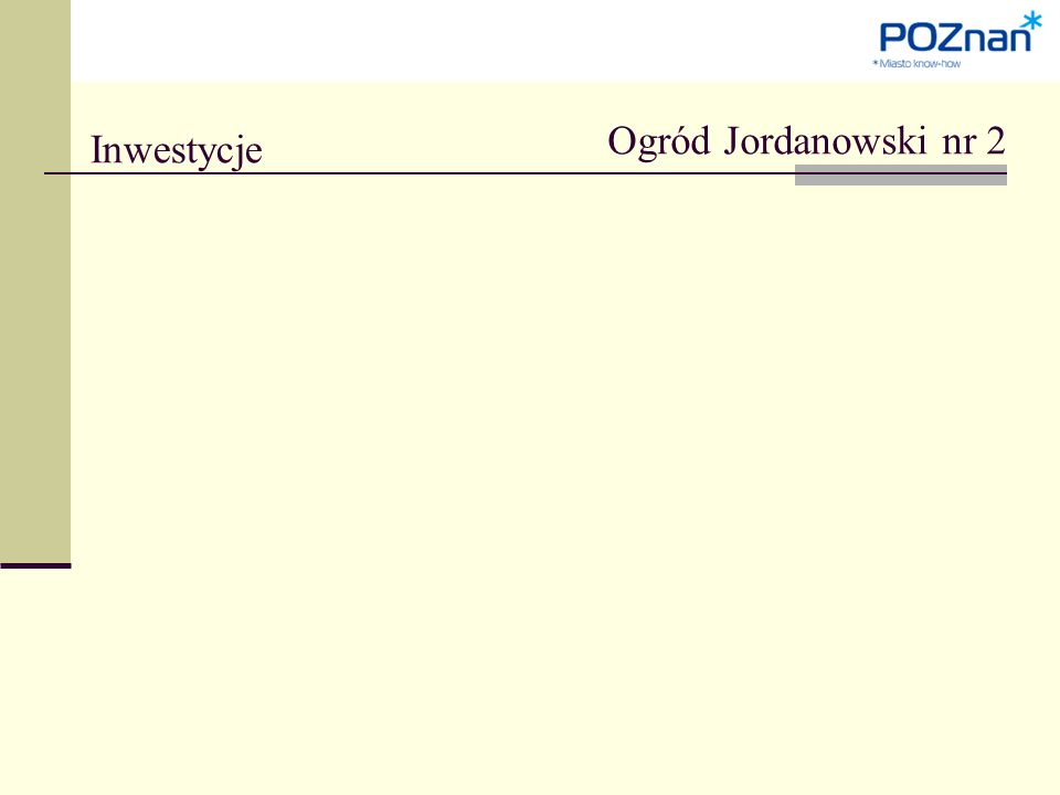 Inwestycje Ogród Jordanowski nr 2