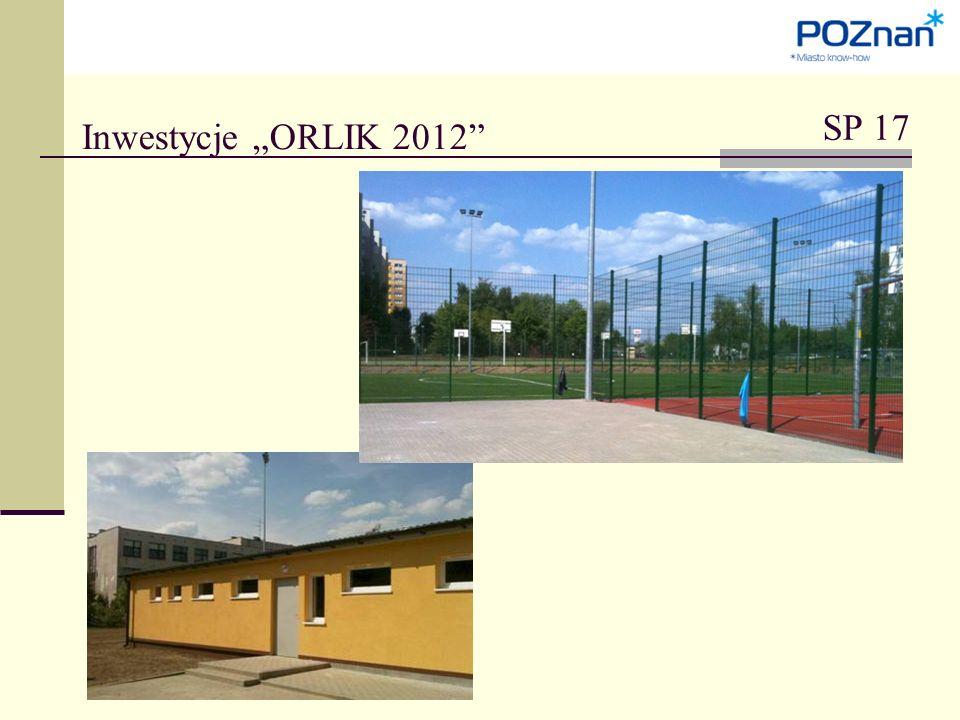 """Inwestycje """"ORLIK 2012 SP 17"""