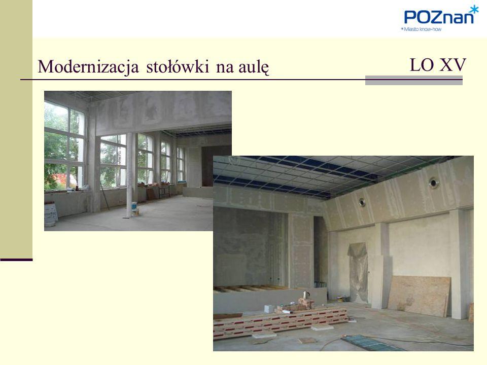 LO XV Modernizacja stołówki na aulę