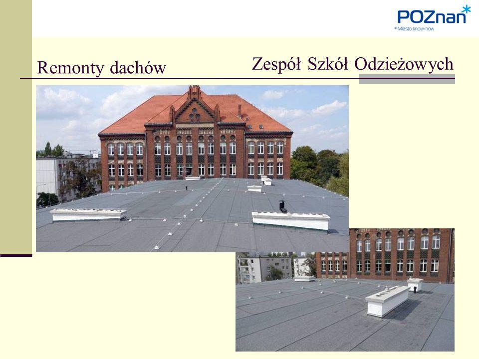 Remonty dachów Zespół Szkół Odzieżowych