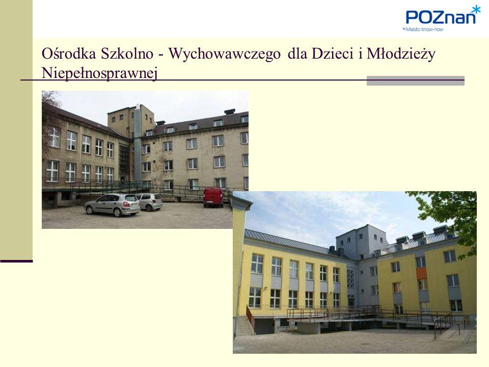 Ośrodka Szkolno - Wychowawczego dla Dzieci i Młodzieży Niepełnosprawnej