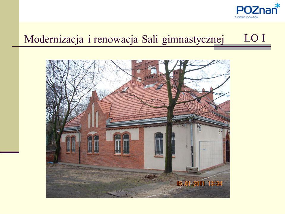 Modernizacja i renowacja Sali gimnastycznej LO I