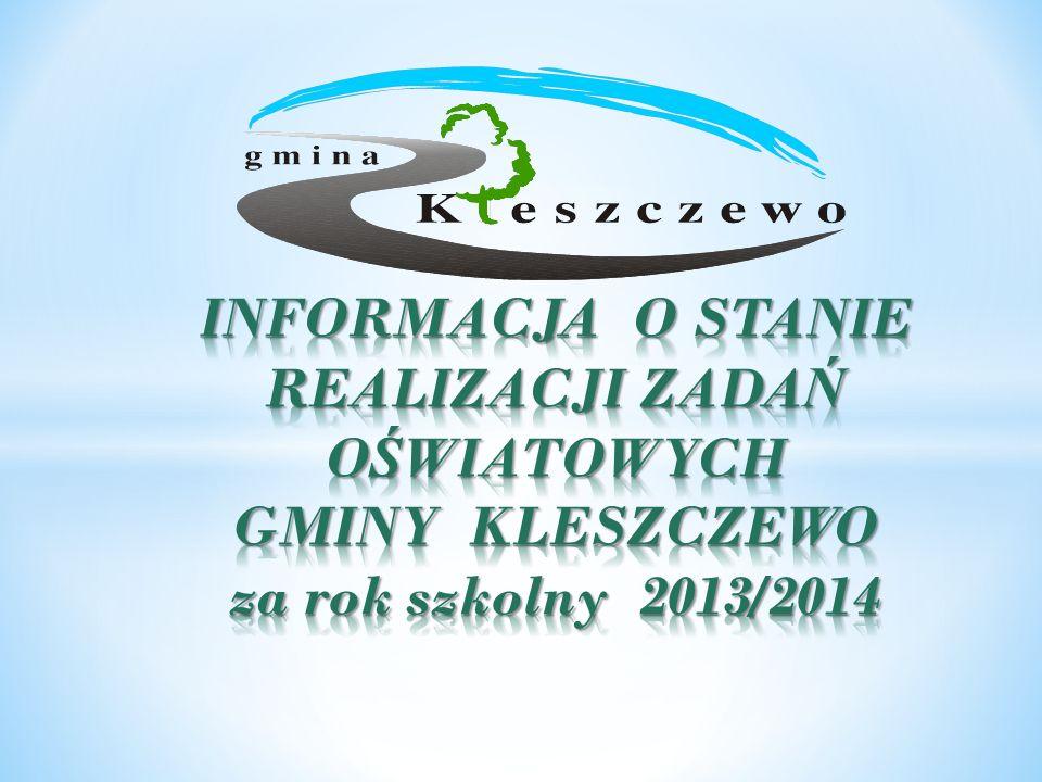 Obowiązek sporządzenia i przedłożenia informacji o stanie realizacji zadań oświatowych Gminy Kleszczewo za rok 2013/2014 wynika z dyspozycji art.