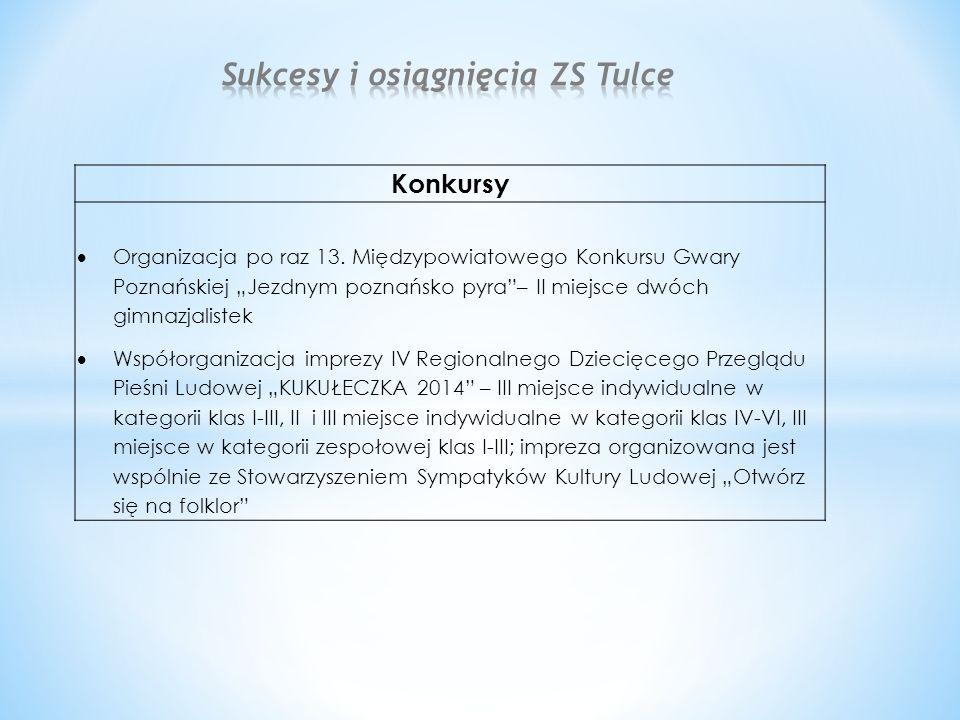Konkursy  Organizacja po raz 13.